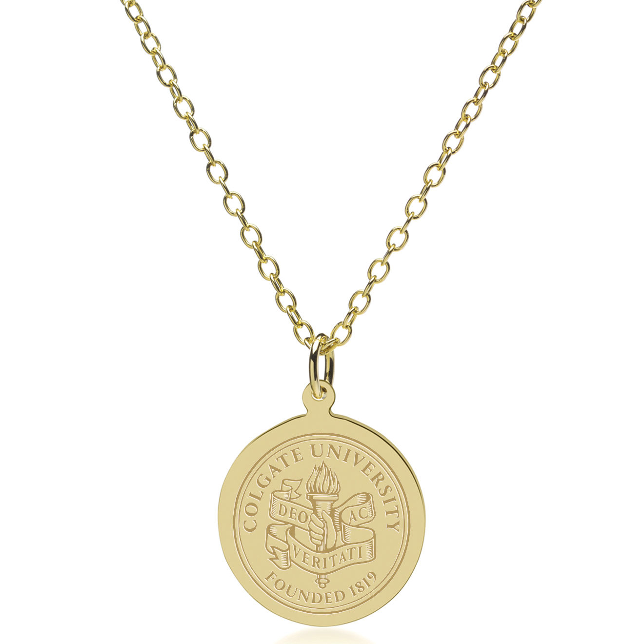 Colgate university 18k gold pendant chain at mhart co colgate 18k gold pendant chain image aloadofball Gallery