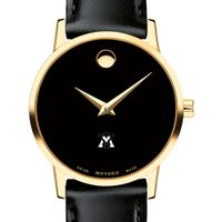 Virginia Military Institute Women's Movado Gold Museum Classic Leather