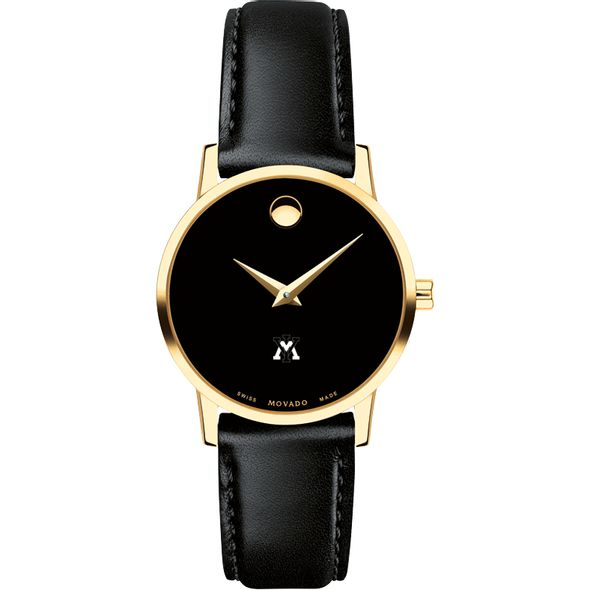 Virginia Military Institute Women's Movado Gold Museum Classic Leather - Image 2