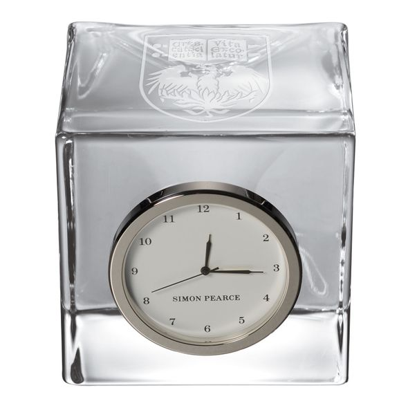 Chicago Glass Desk Clock by Simon Pearce - Image 2