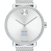 Emory Goizueta Women's Movado Bold with Crystal Bezel & Mesh Bracelet