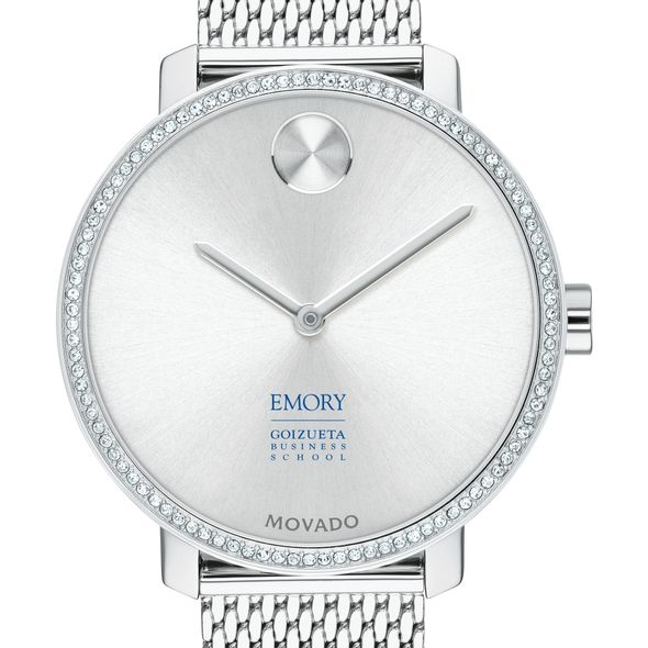 Emory Goizueta Women's Movado Bold with Crystal Bezel & Mesh Bracelet - Image 1