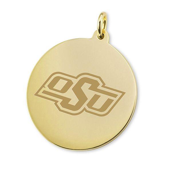Oklahoma State University 18K Gold Charm