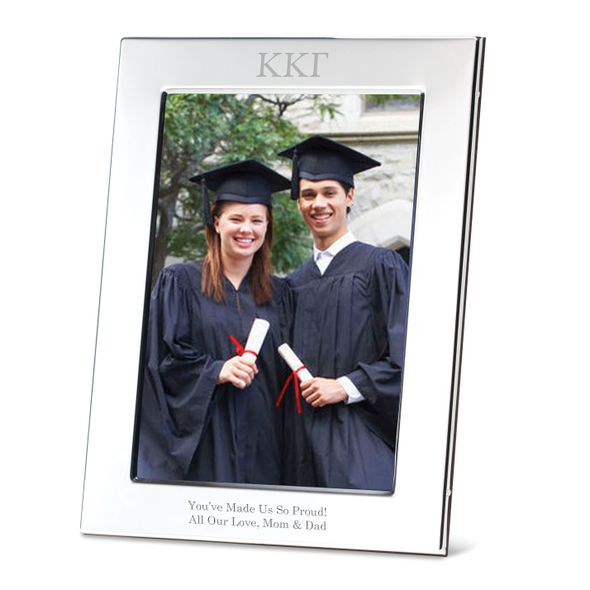 Kappa Kappa Gamma Polished Pewter 5x7 Picture Frame
