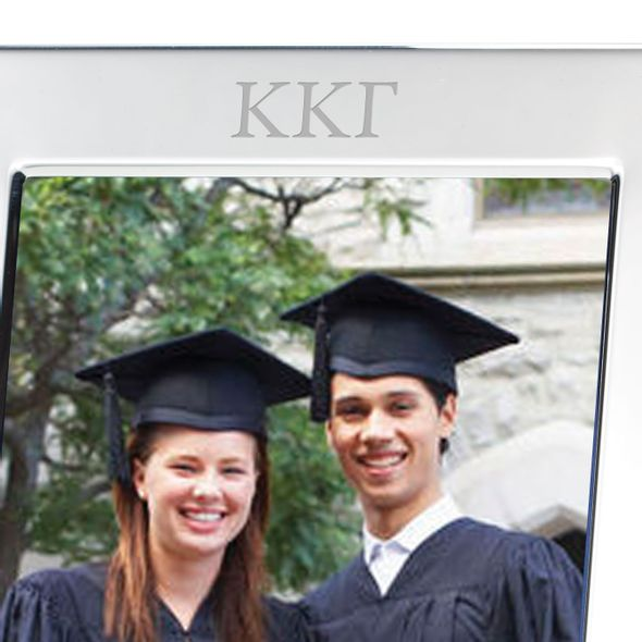 Kappa Kappa Gamma Polished Pewter 5x7 Picture Frame - Image 2