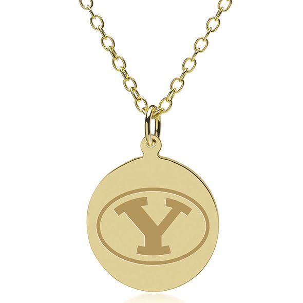 Brigham Young University 14K Gold Pendant & Chain