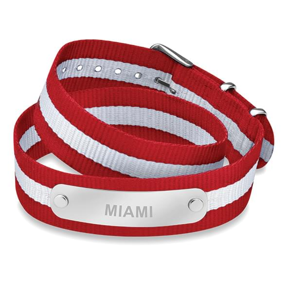 Miami University in Ohio Double Wrap NATO ID Bracelet