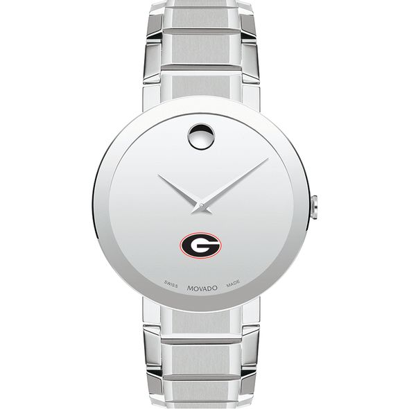 University of Georgia Men's Movado Sapphire Museum with Bracelet - Image 2