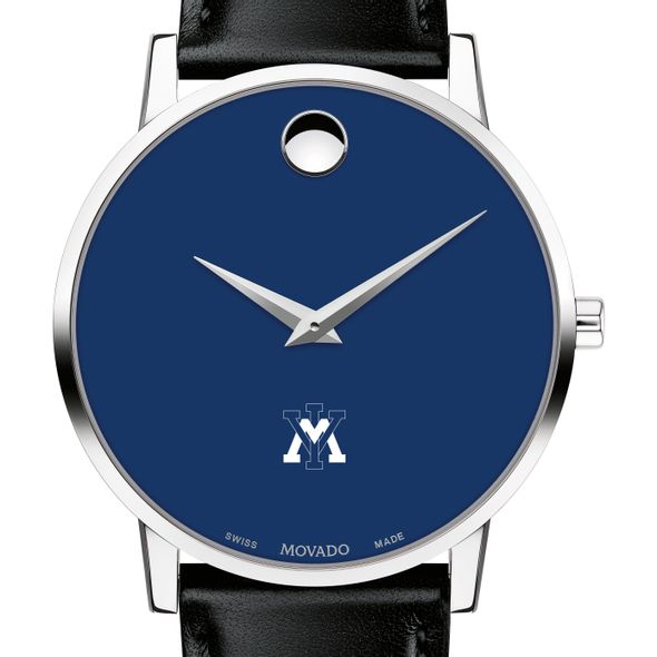 Virginia Military Institute Men's Movado Museum with Blue Dial & Leather Strap