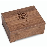 Texas A&M University Solid Walnut Desk Box