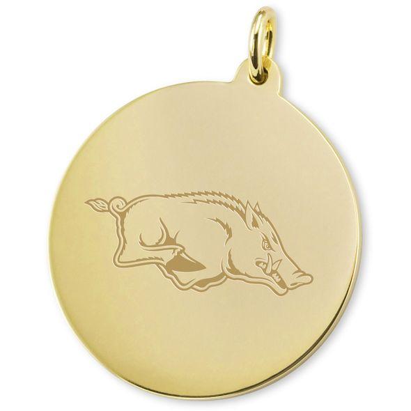 University of Arkansas 14K Gold Charm - Image 2