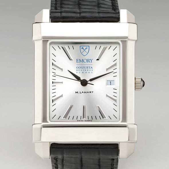 Emory Goizueta Men's Collegiate Watch with Leather Strap - Image 1