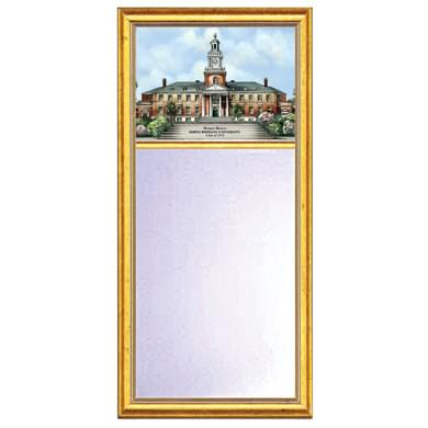 Johns Hopkins Eglomise Mirror with Gold Frame