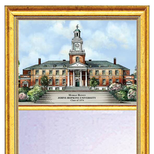 Johns Hopkins Eglomise Mirror with Gold Frame - Image 2