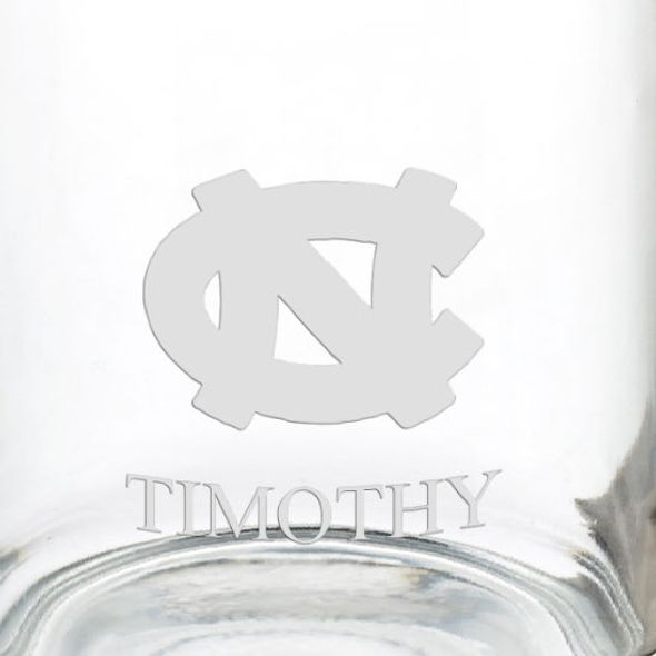 University of North Carolina 13 oz Glass Coffee Mug - Image 3