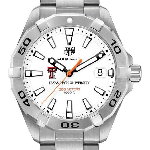 Texas Tech Men's TAG Heuer Steel Aquaracer - Image 1