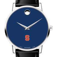 Syracuse University Men's Movado Museum with Blue Dial & Leather Strap