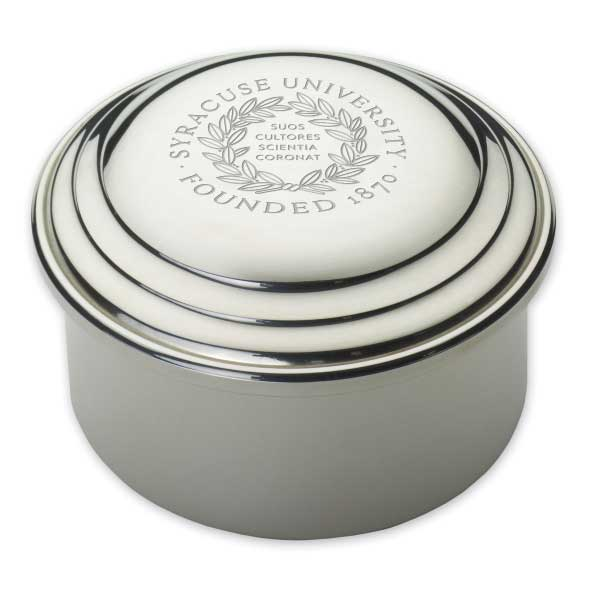Syracuse University Pewter Keepsake Box