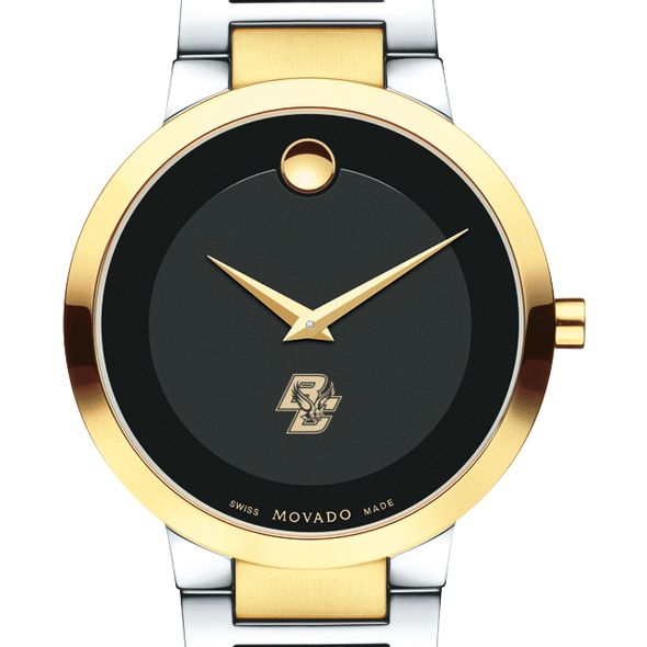 Boston College Men's Movado Two-Tone Modern Classic Museum with Bracelet