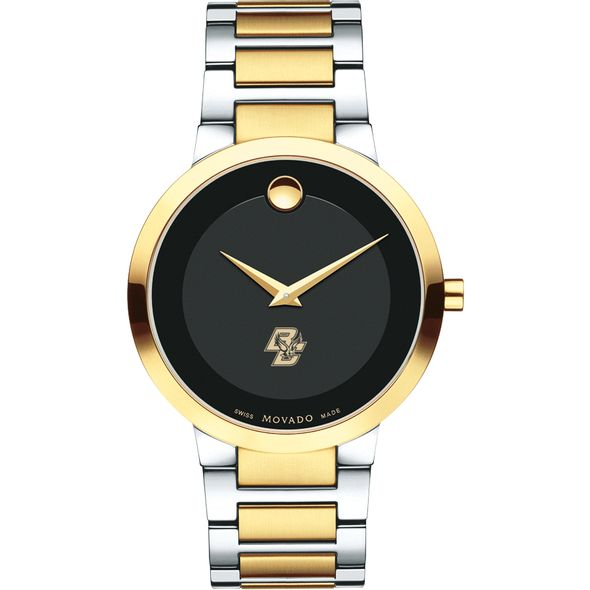Boston College Men's Movado Two-Tone Modern Classic Museum with Bracelet - Image 2