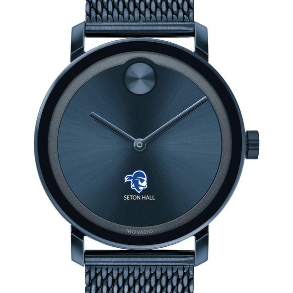 Seton Hall Men's Movado Bold Blue with Mesh Bracelet - Image 1