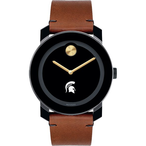 Michigan State University Men's Movado BOLD with Brown Leather Strap - Image 2