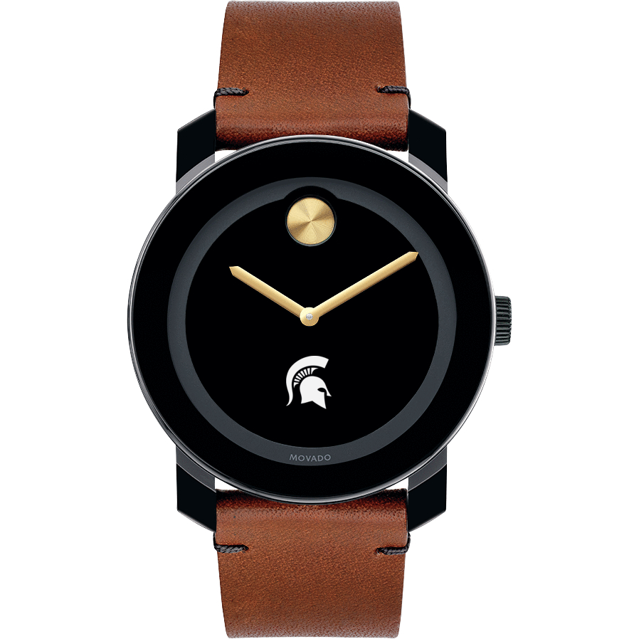 Michigan State Men's Movado BOLD with Brown Leather Strap - Image 2