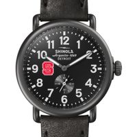 NC State Shinola Watch, The Runwell 41mm Black Dial