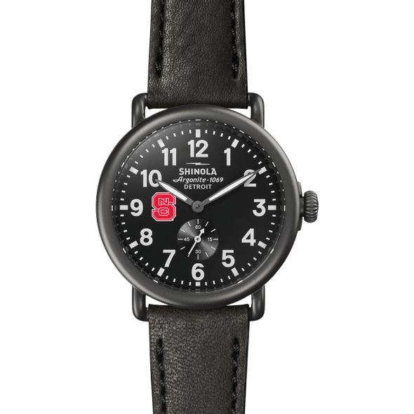 NC State Shinola Watch, The Runwell 41mm Black Dial - Image 2