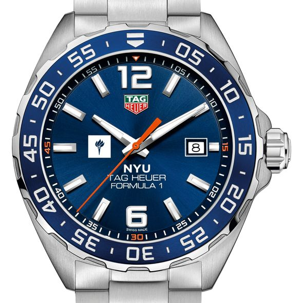 New York University Men's TAG Heuer Formula 1 with Blue Dial & Bezel