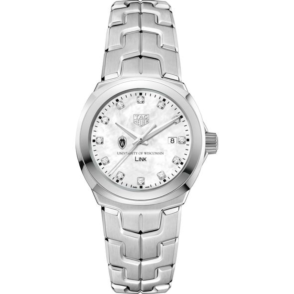 University of Wisconsin TAG Heuer Diamond Dial LINK for Women - Image 2