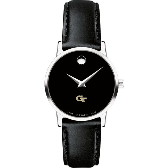 Georgia Tech Women's Movado Museum with Leather Strap - Image 2