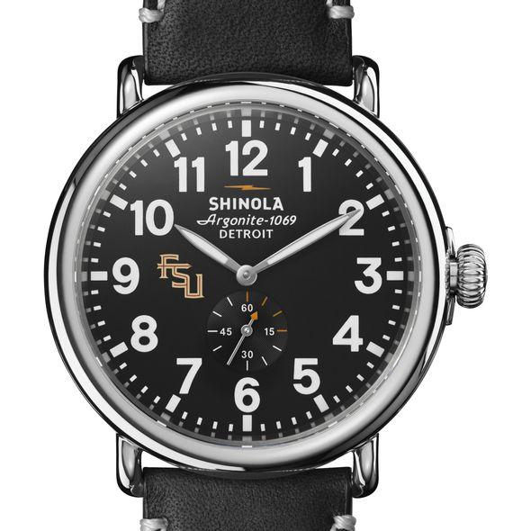 FSU Shinola Watch, The Runwell 47mm Black Dial - Image 1