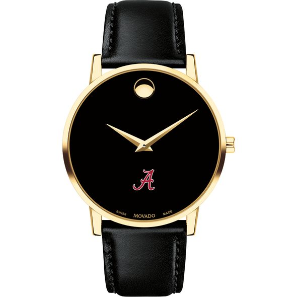 University of Alabama Men's Movado Gold Museum Classic Leather - Image 2