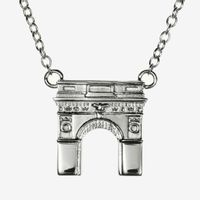 NYU Sterling Silver Campus Architecture Necklace by Kyle Cavan