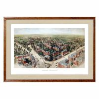 Historic Harvard University Watercolor Print