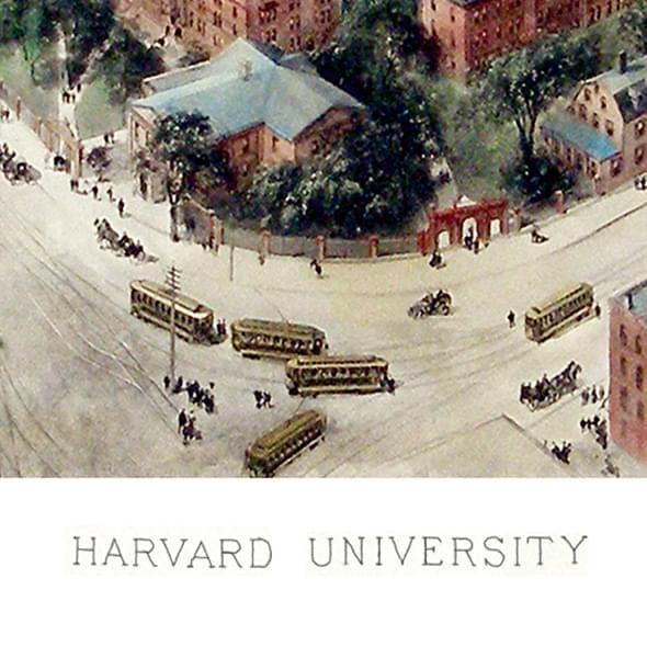 Historic Harvard University Watercolor Print - Image 2