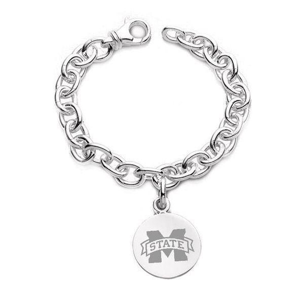 Mississippi State Sterling Silver Charm Bracelet