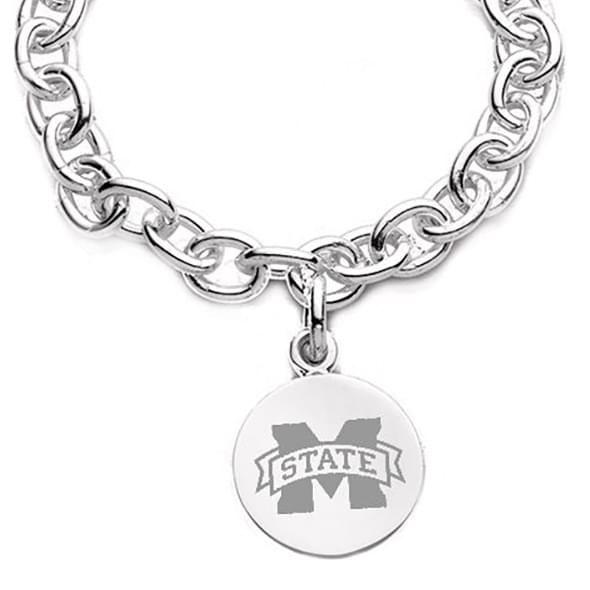 Mississippi State Sterling Silver Charm Bracelet - Image 2
