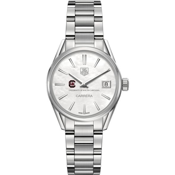 University of South Carolina Women's TAG Heuer Steel Carrera with MOP Dial - Image 2
