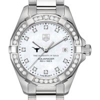 University of Texas W's TAG Heuer Steel Aquaracer with MOP Dia Dial & Bezel