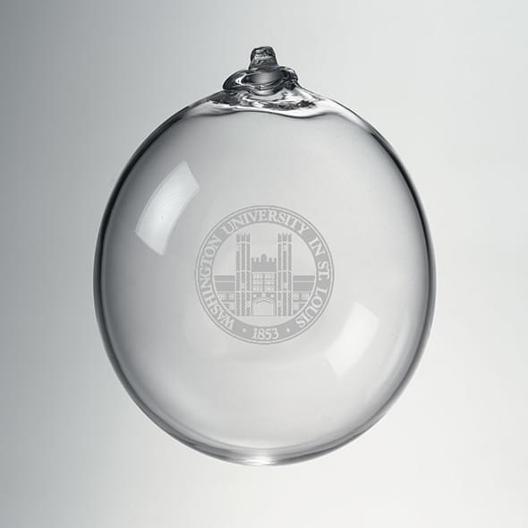 WashU Glass Ornament by Simon Pearce