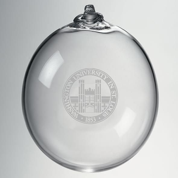 WUSTL Glass Ornament by Simon Pearce - Image 2