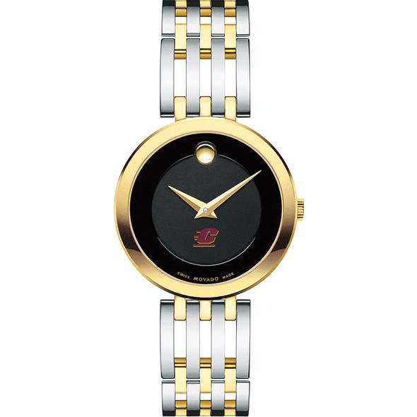 Central Michigan Women's Movado Esparanza Two-Tone Museum with Bracelet - Image 2