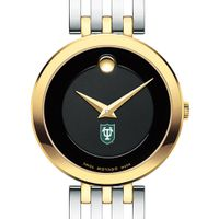 Tulane Women's Movado Esparanza Two-Tone Museum with Bracelet