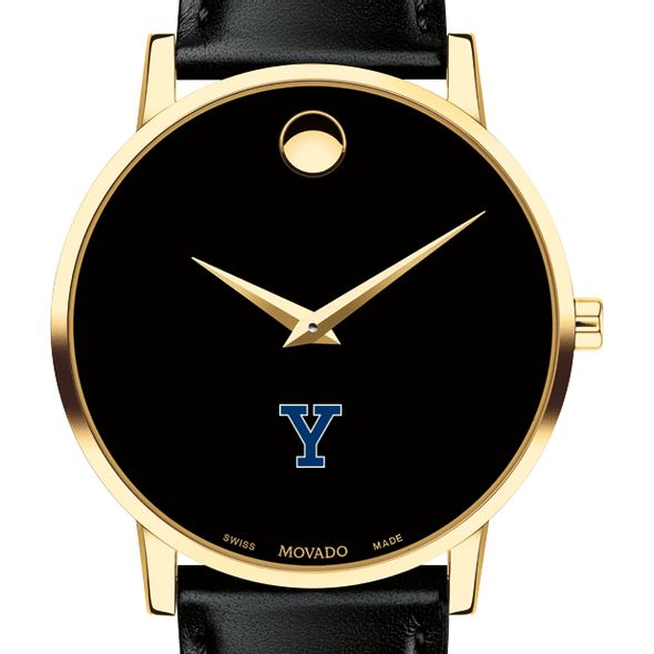 Yale University Men's Movado Gold Museum Classic Leather