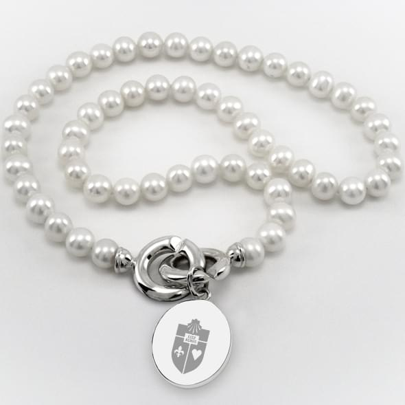 St. John's Pearl Necklace with Sterling Silver Charm
