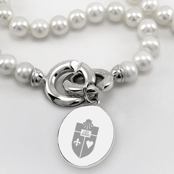 St. John's Pearl Necklace with Sterling Silver Charm - Image 2