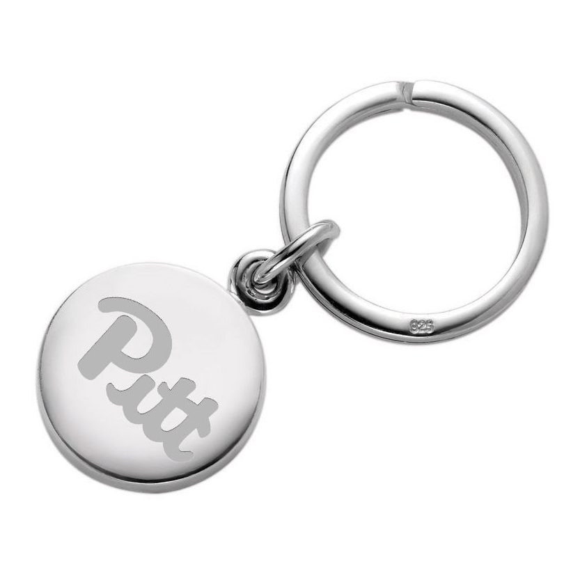 Pittsburgh Sterling Silver Insignia Key Ring