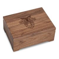 US Military Academy Solid Walnut Desk Box
